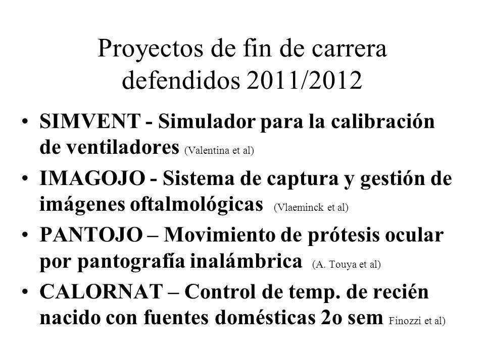 Proyectos de fin de carrera defendidos 2011/2012