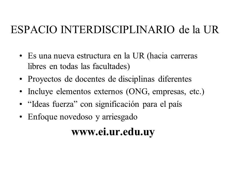 ESPACIO INTERDISCIPLINARIO de la UR