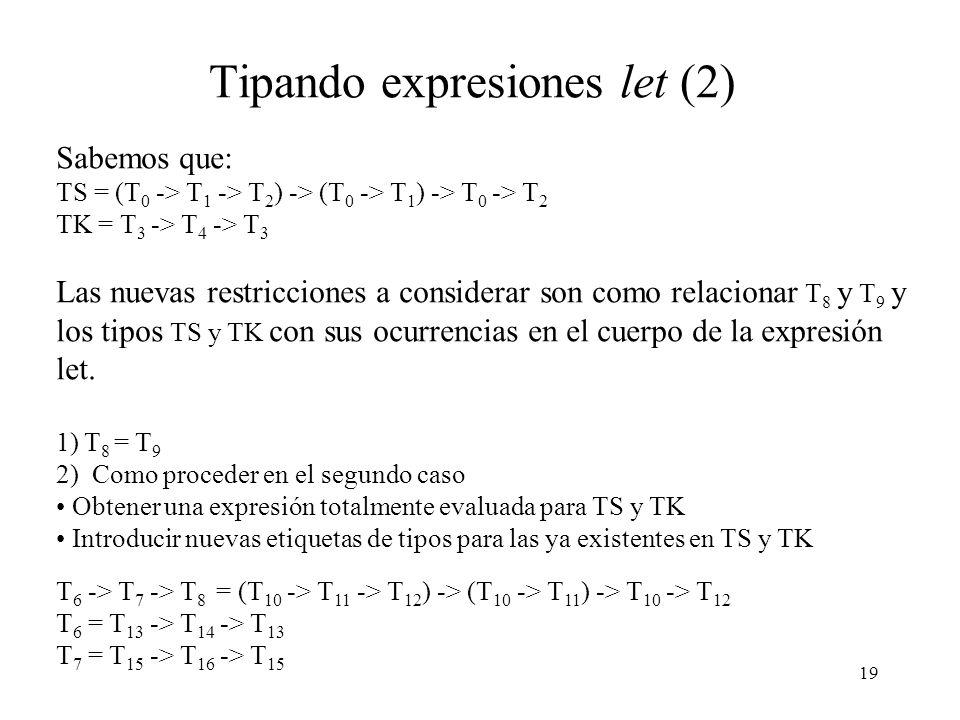 Tipando expresiones let (2)