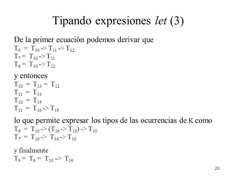 Tipando expresiones let (3)