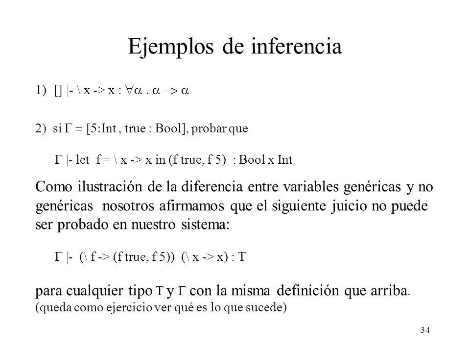 Ejemplos de inferencia