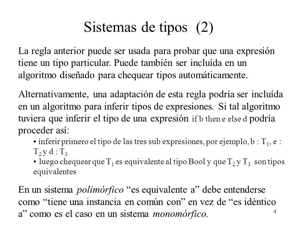 Sistemas de tipos (2)