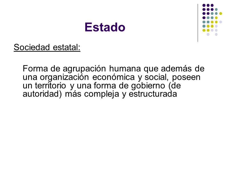 Estado Sociedad estatal:
