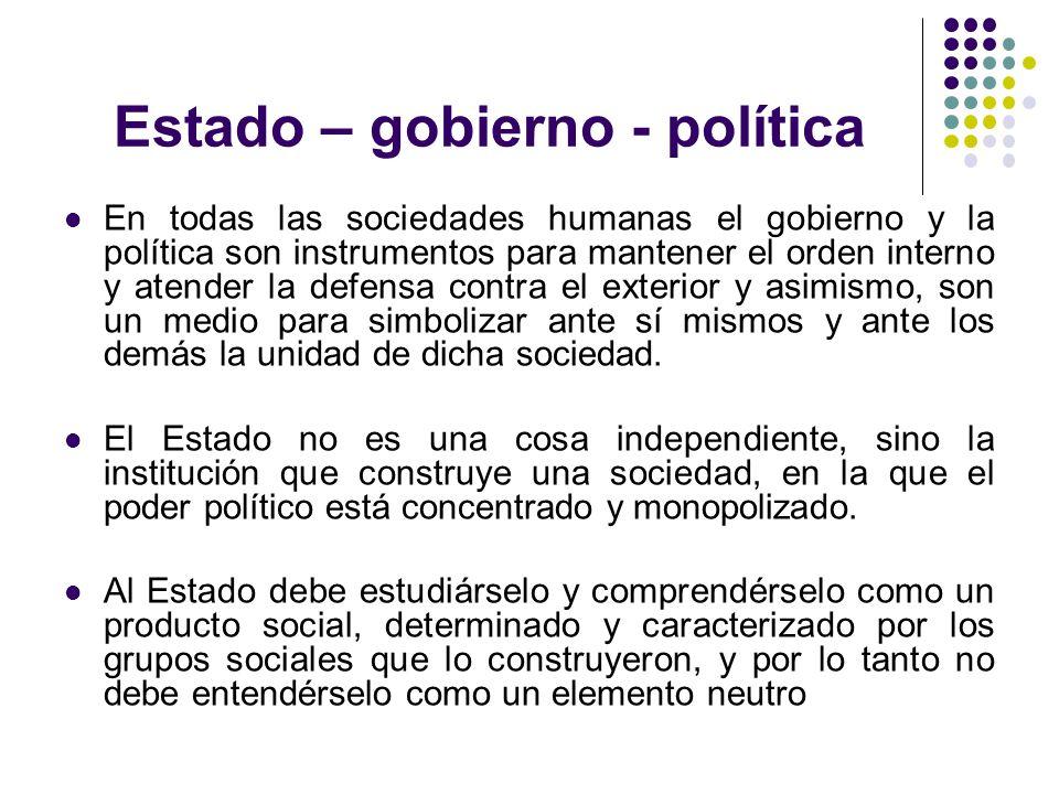 Estado – gobierno - política