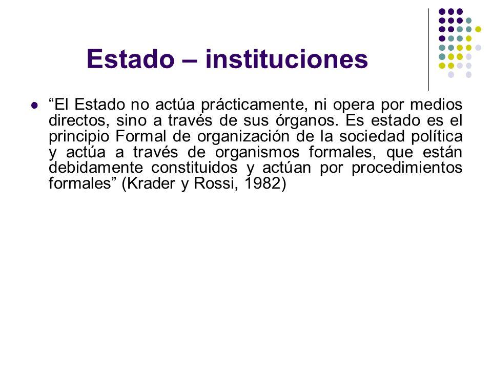 Estado – instituciones