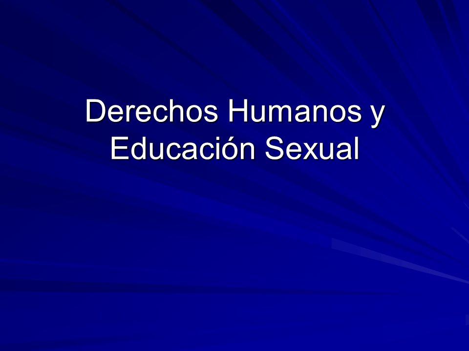 Derechos Humanos y Educación Sexual