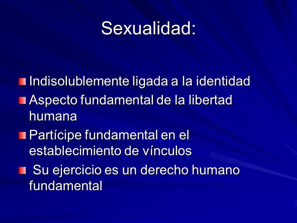 Sexualidad: Indisolublemente ligada a la identidad