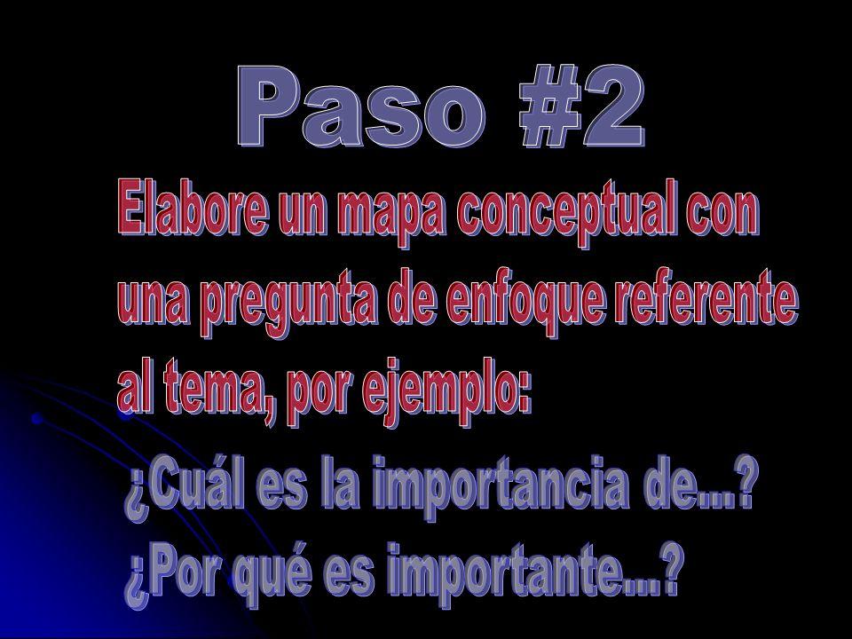 Paso #2 ¿Cuál es la importancia de... ¿Por qué es importante...