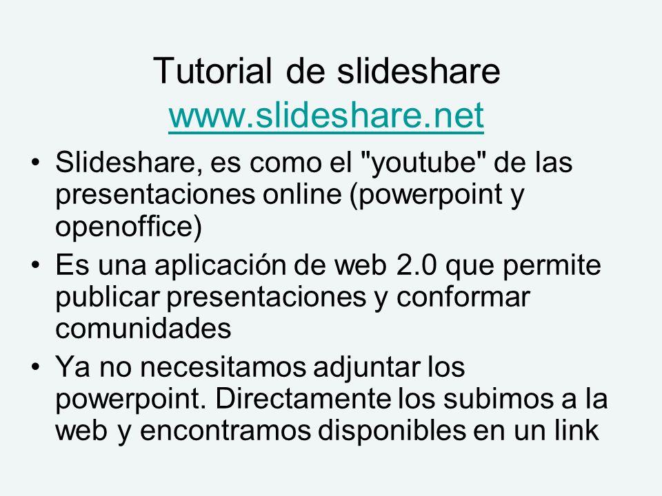Tutorial de slideshare www.slideshare.net