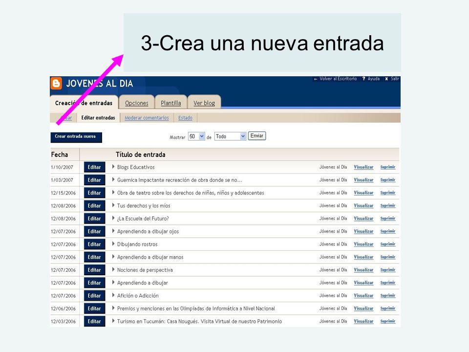 3-Crea una nueva entrada