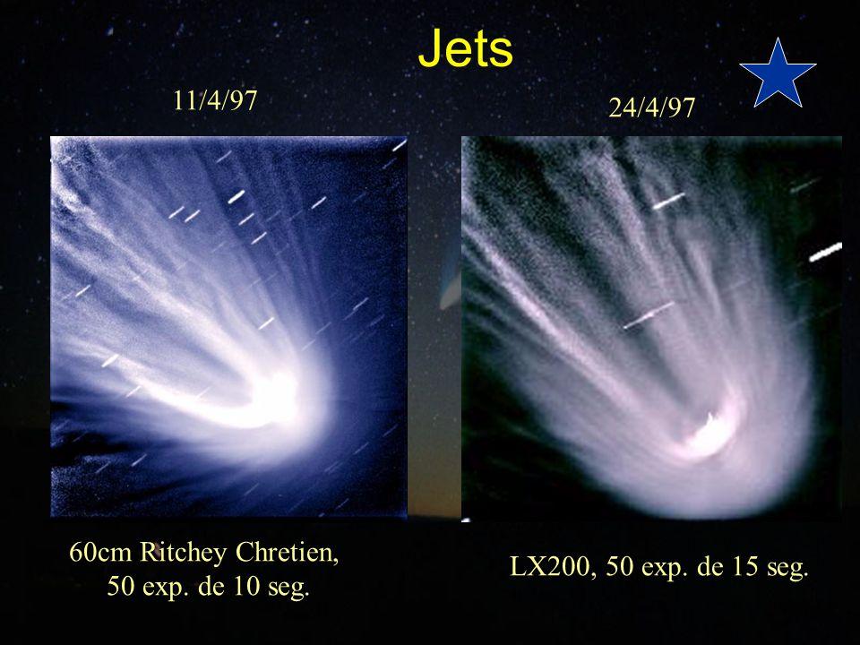 Jets 11/4/97 24/4/97 60cm Ritchey Chretien, LX200, 50 exp. de 15 seg.