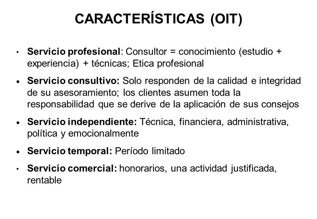 CARACTERÍSTICAS (OIT)