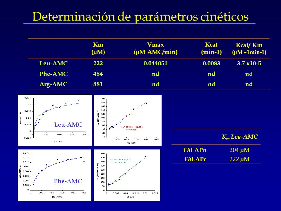 Determinación de parámetros cinéticos