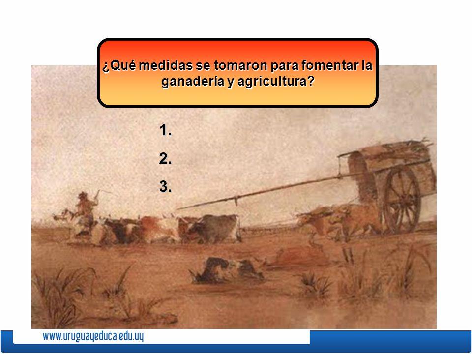 ¿Qué medidas se tomaron para fomentar la ganadería y agricultura