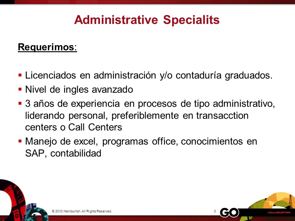 Administrative Specialits