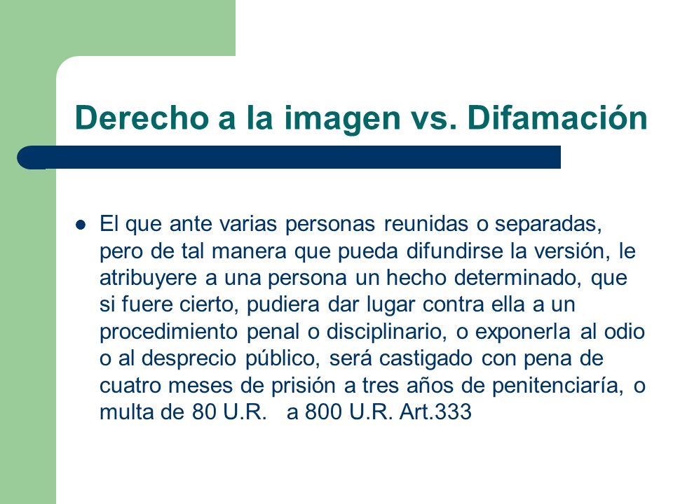Derecho a la imagen vs. Difamación