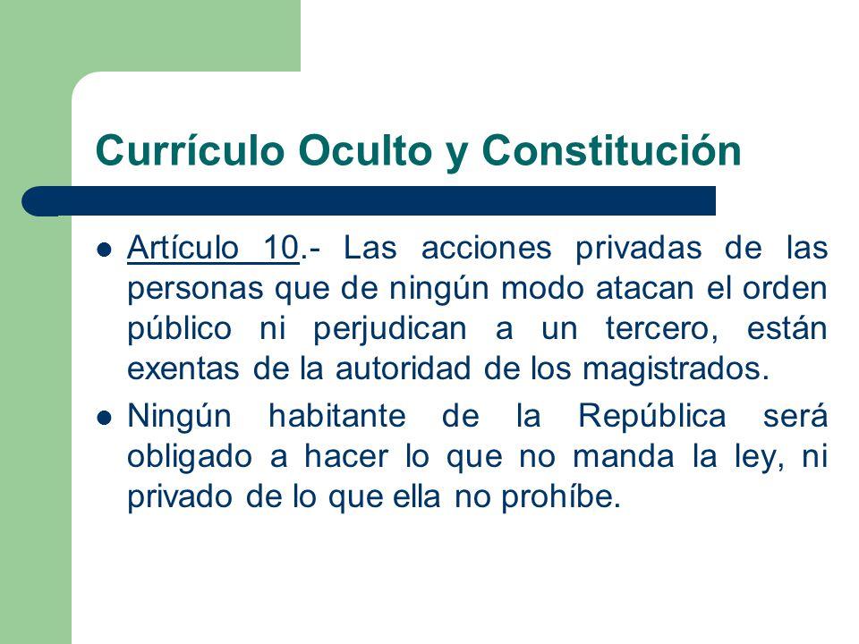 Currículo Oculto y Constitución