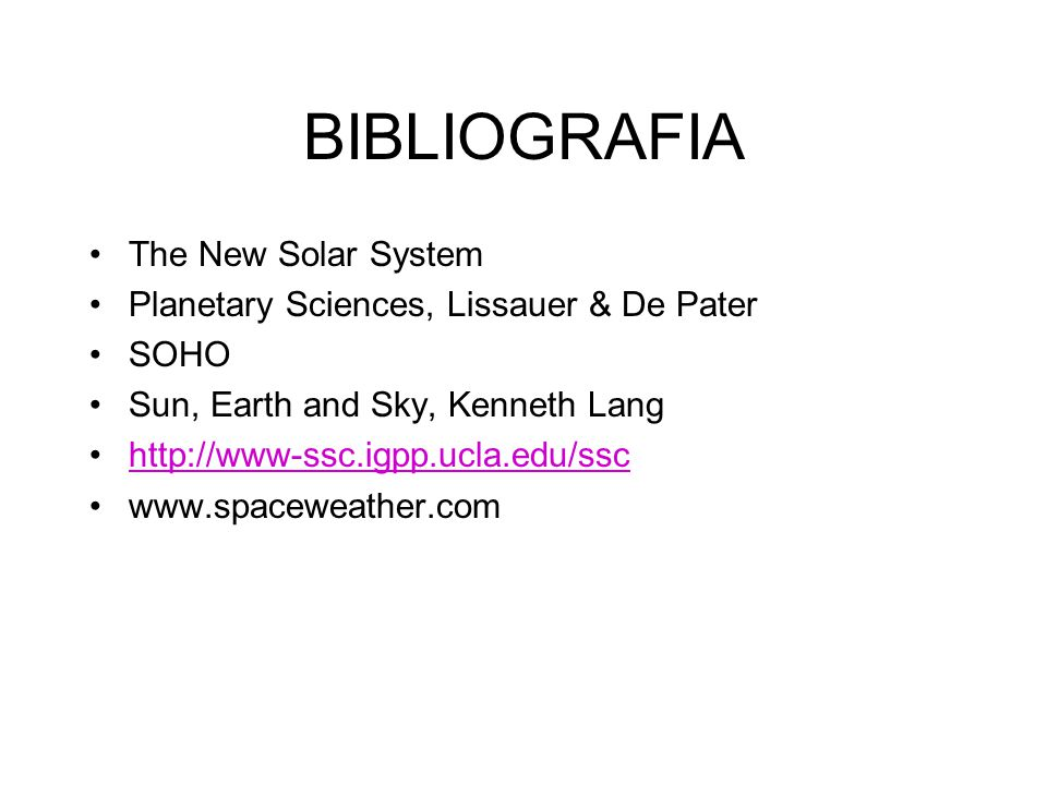 BIBLIOGRAFIA The New Solar System