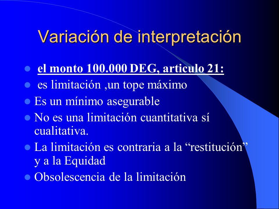Variación de interpretación