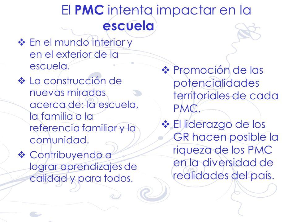 El PMC intenta impactar en la escueladel país.
