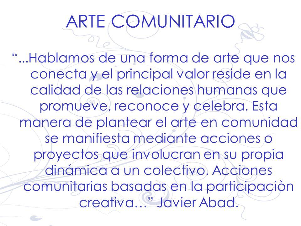 ARTE COMUNITARIO