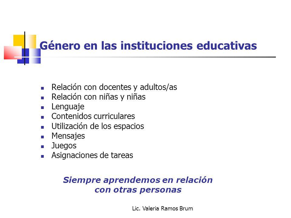 Género en las instituciones educativas