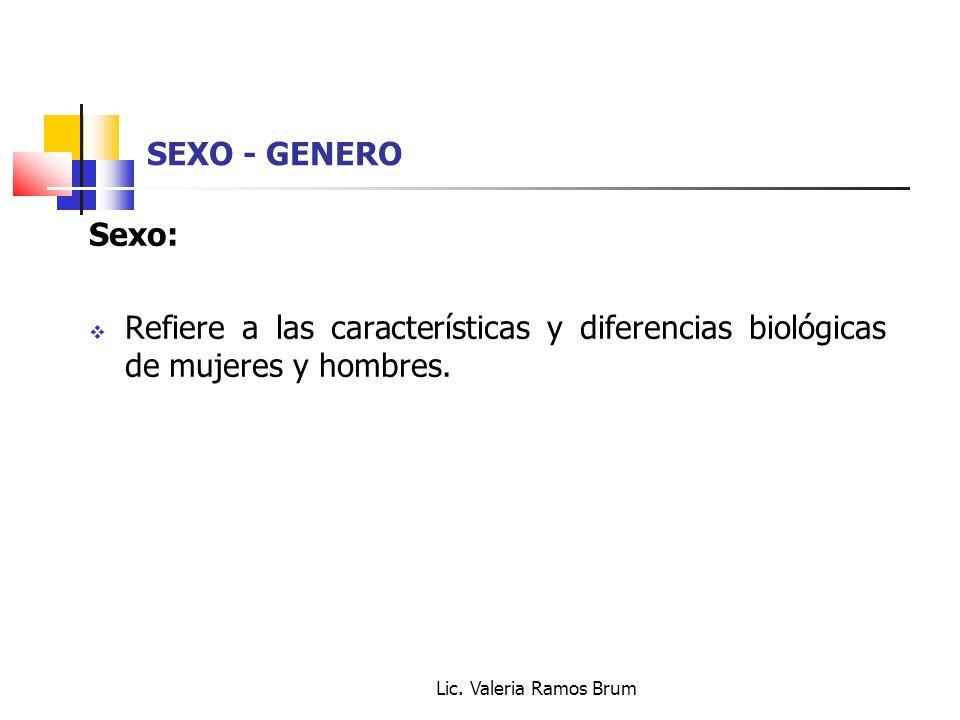 SEXO - GENERO Sexo: Refiere a las características y diferencias biológicas de mujeres y hombres.