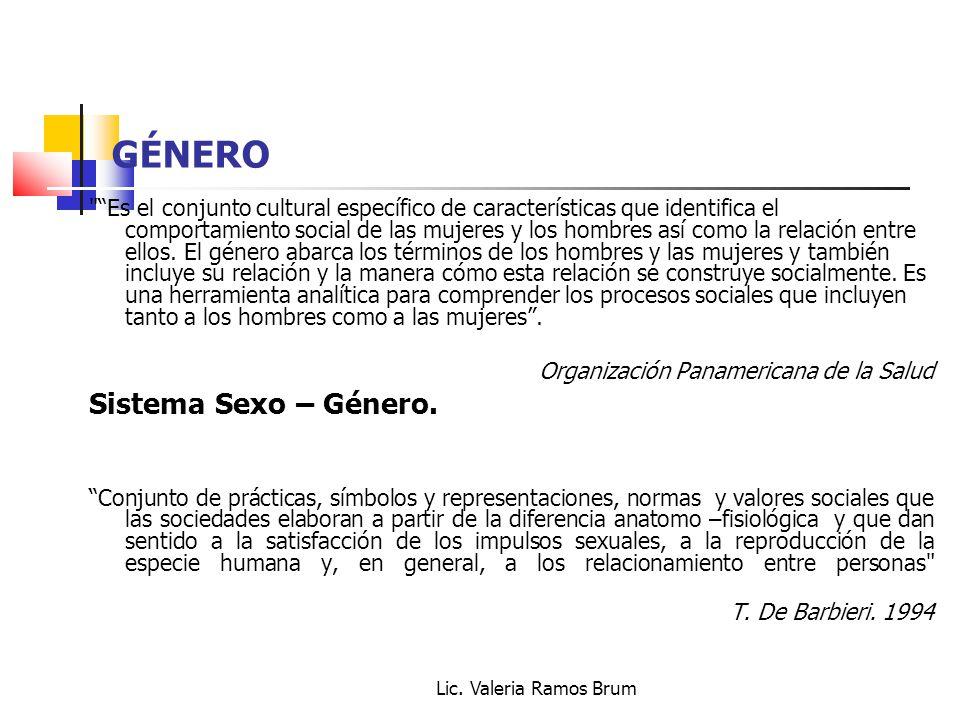 GÉNERO Sistema Sexo – Género.