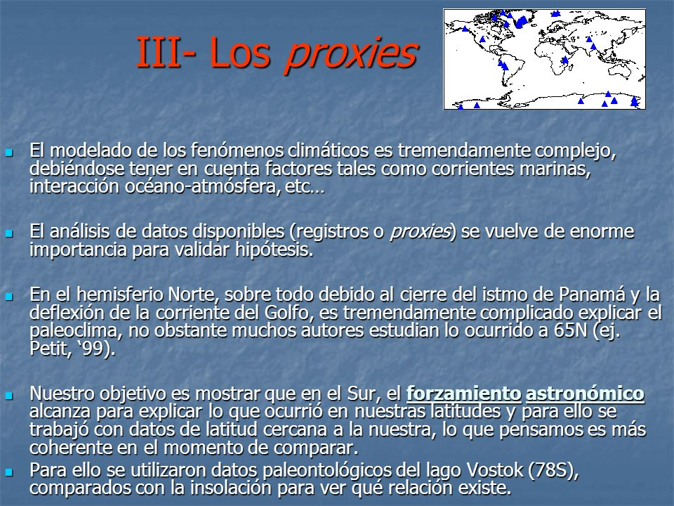 III- Los proxies