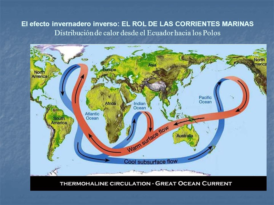 El efecto invernadero inverso: EL ROL DE LAS CORRIENTES MARINAS