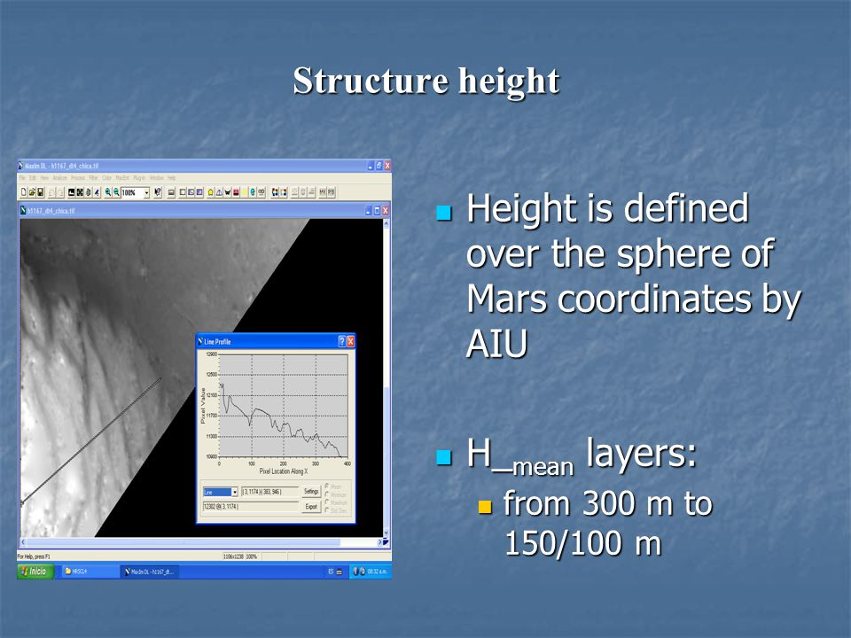 Height is defined over the sphere of Mars coordinates by AIU