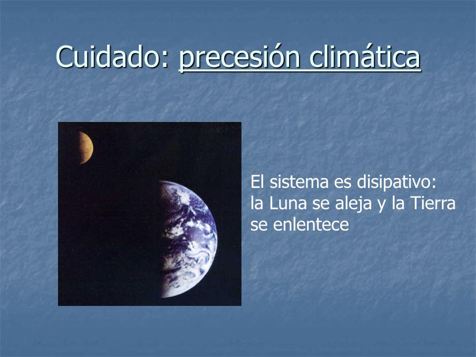 Cuidado: precesión climática