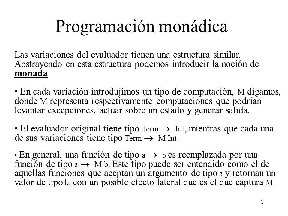 Programación monádica