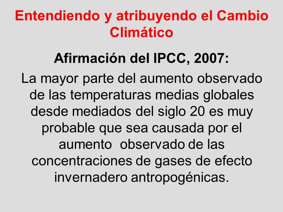 Entendiendo y atribuyendo el Cambio Climático