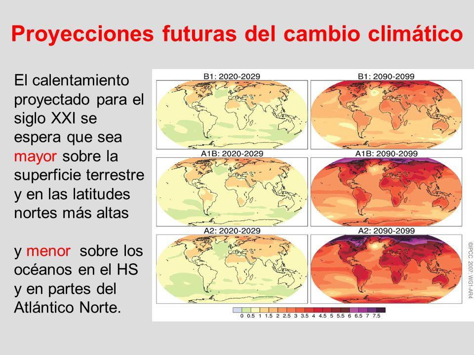 Proyecciones futuras del cambio climático