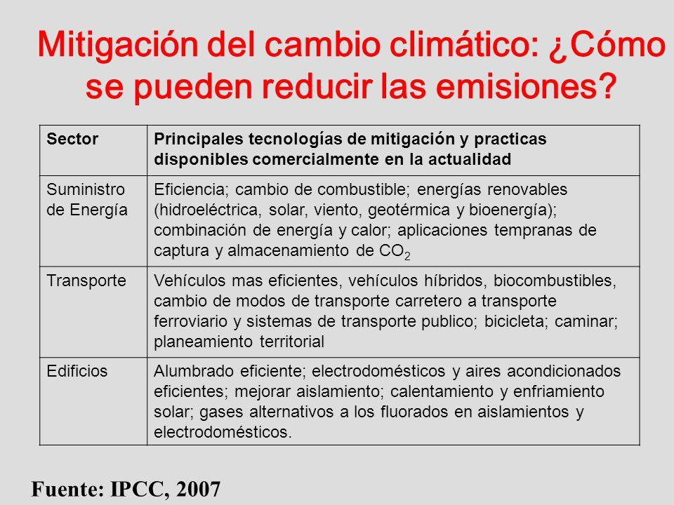 Mitigación del cambio climático: ¿Cómo se pueden reducir las emisiones