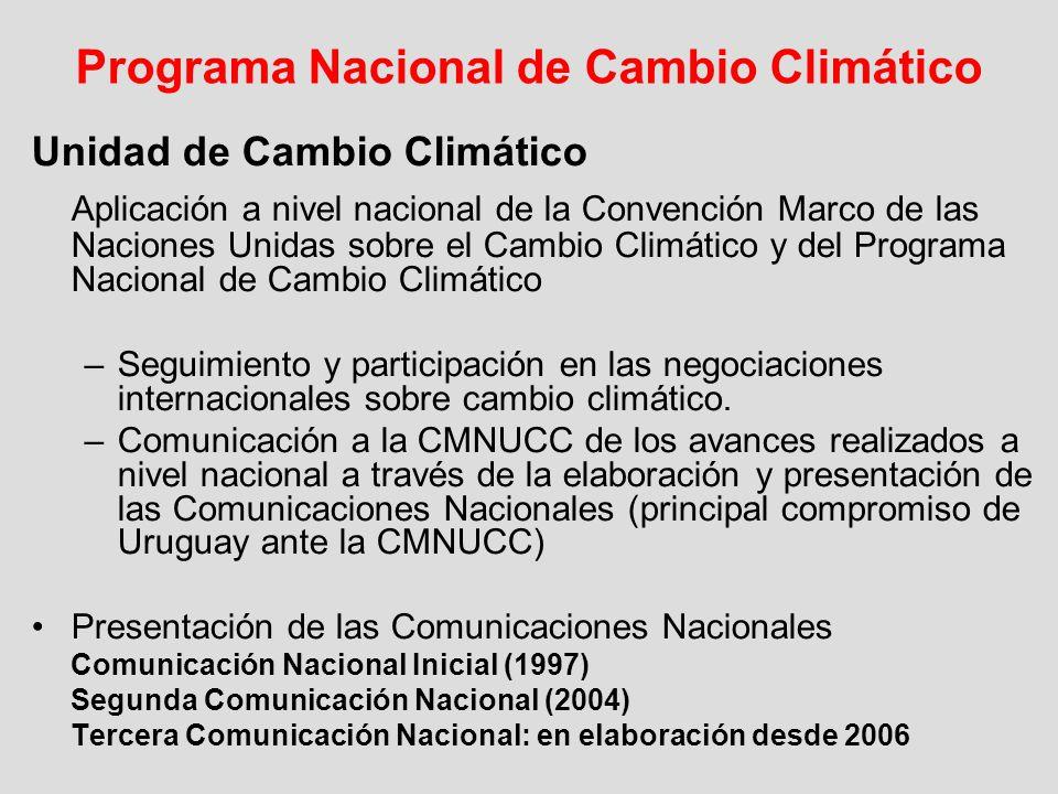 Programa Nacional de Cambio Climático