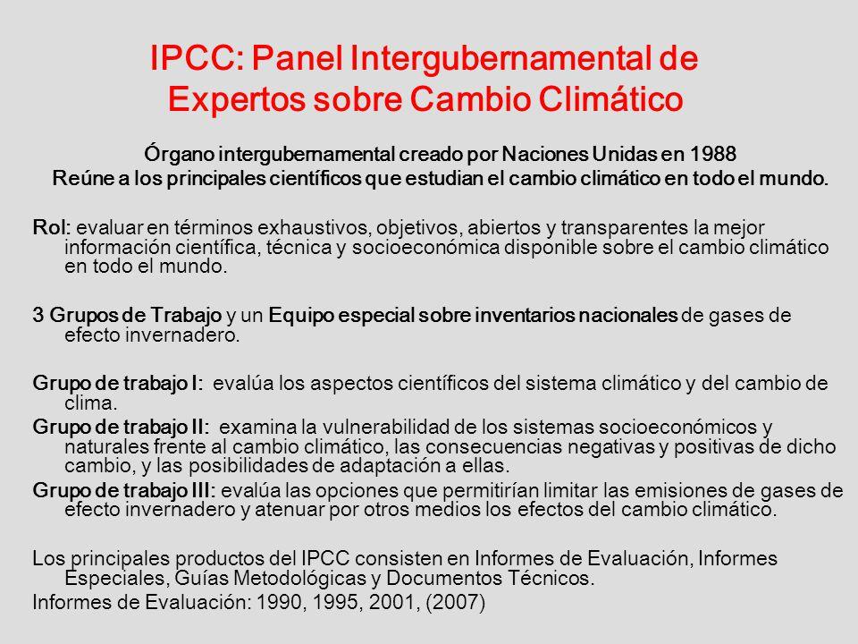 IPCC: Panel Intergubernamental de Expertos sobre Cambio Climático