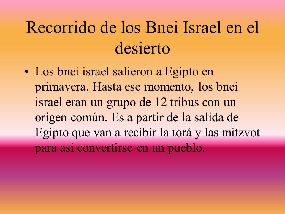 Recorrido de los Bnei Israel en el desierto