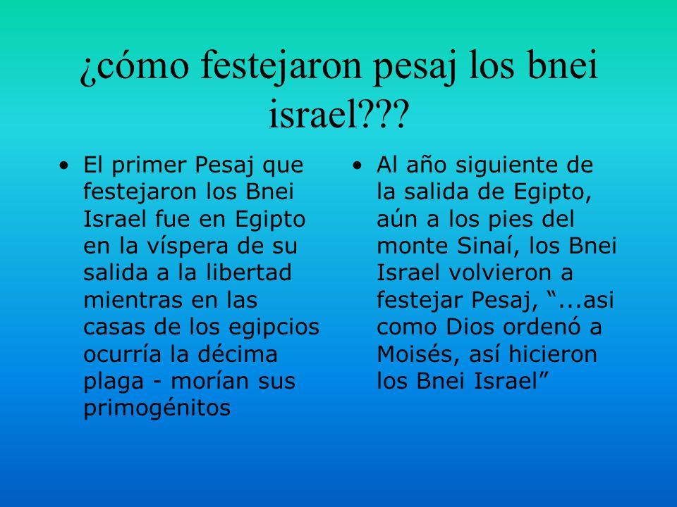 ¿cómo festejaron pesaj los bnei israel