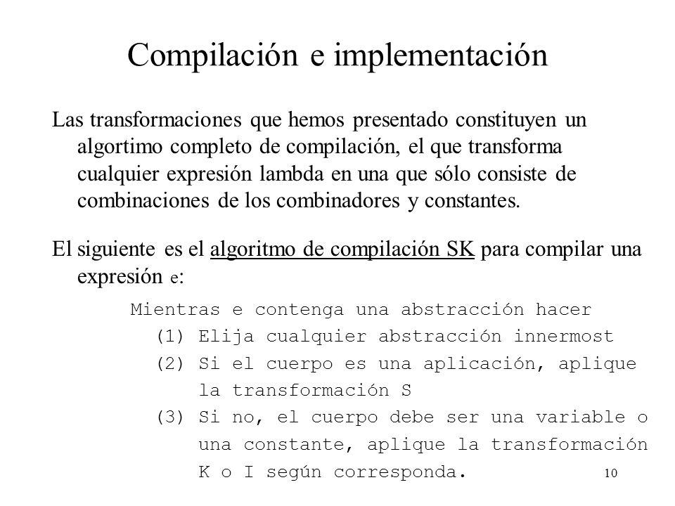 Compilación e implementación