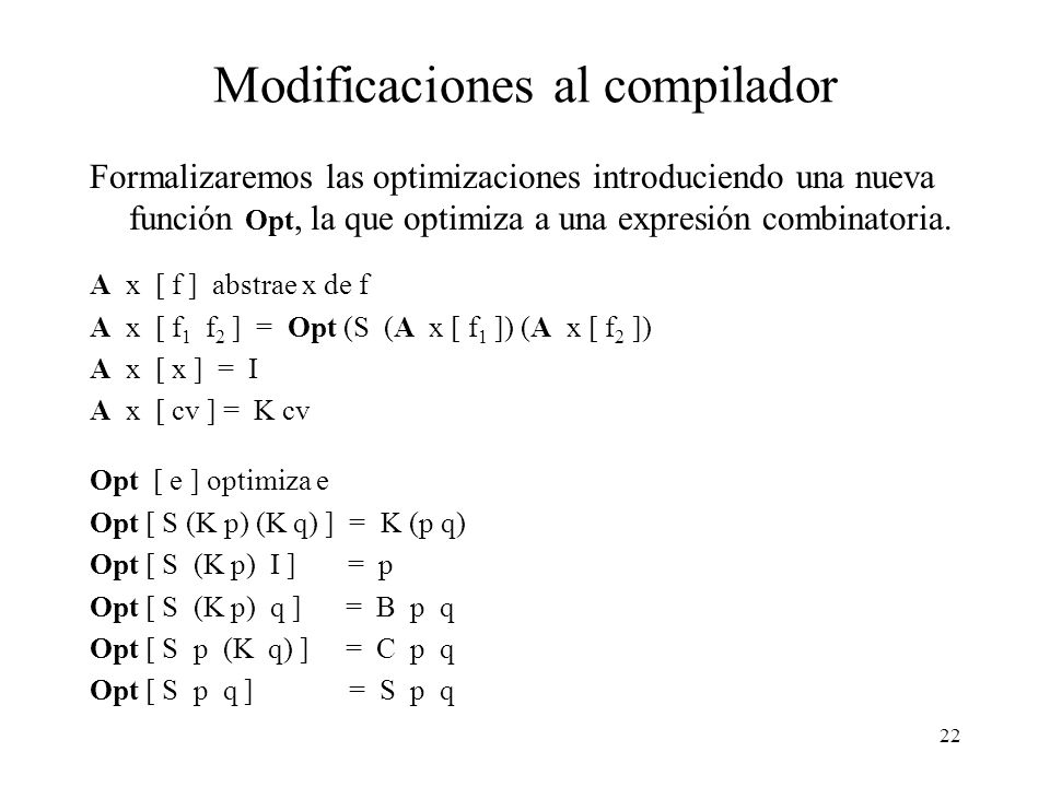 Modificaciones al compilador