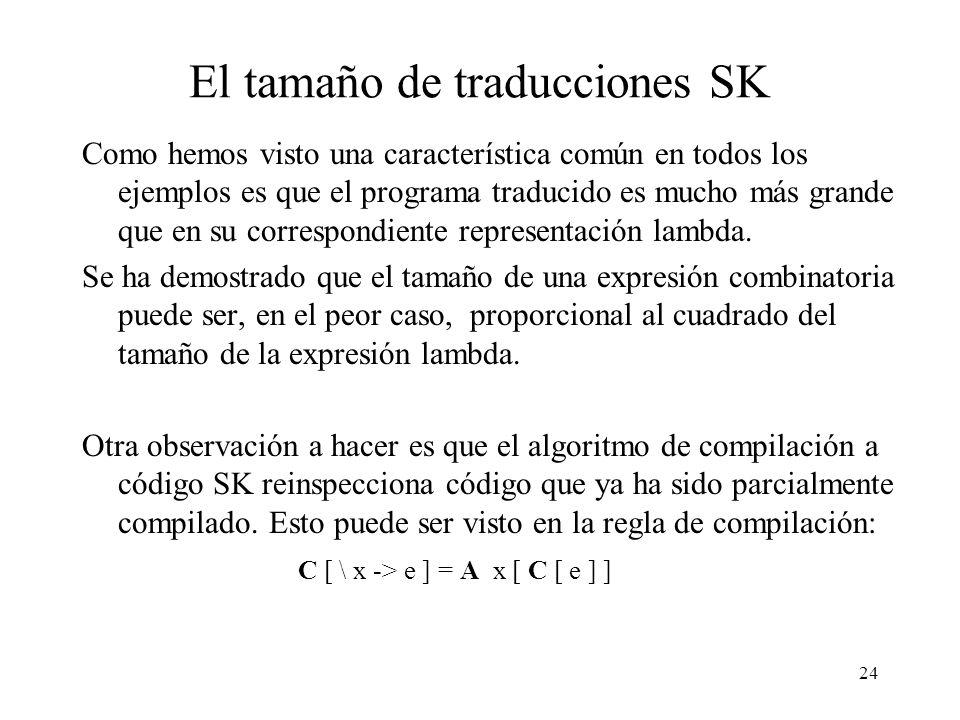 El tamaño de traducciones SK