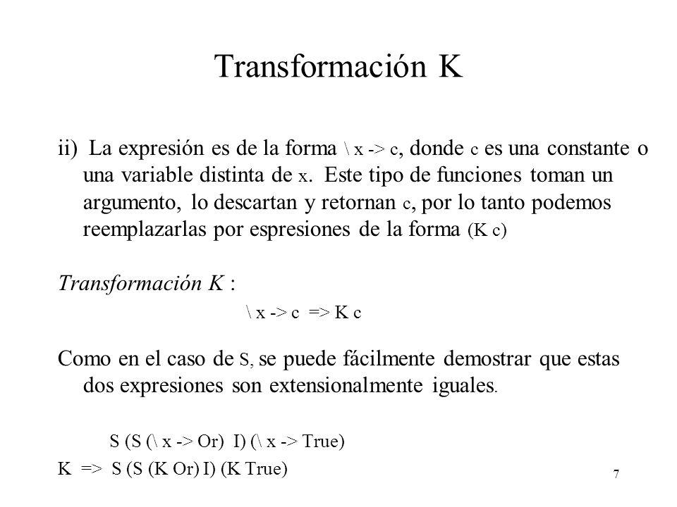 Transformación K