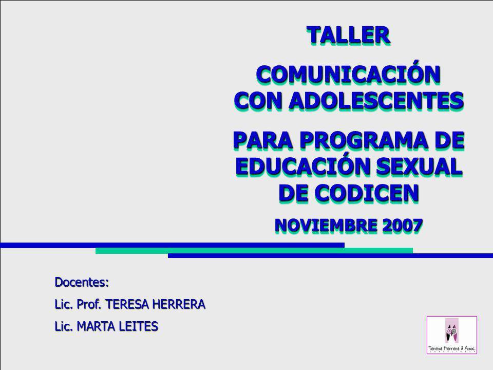 COMUNICACIÓN CON ADOLESCENTES