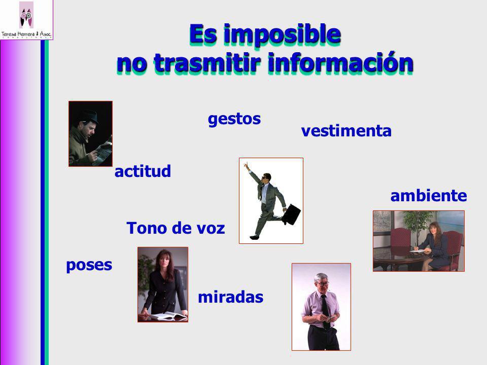 Es imposible no trasmitir información