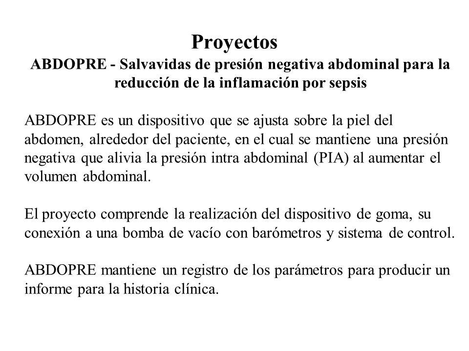 Proyectos ABDOPRE - Salvavidas de presión negativa abdominal para la reducción de la inflamación por sepsis.
