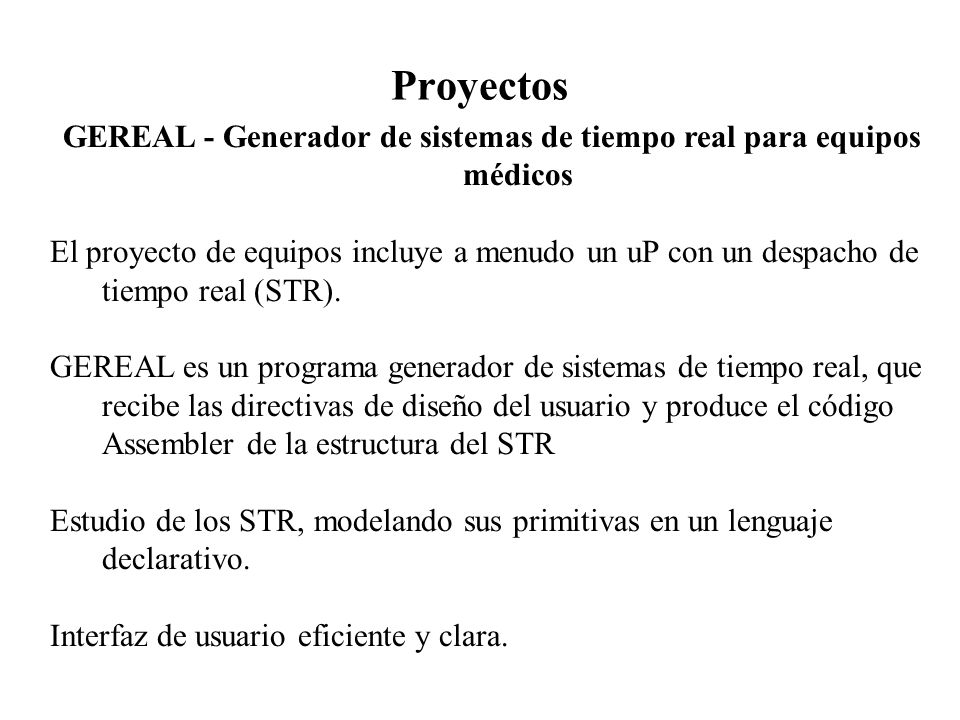 GEREAL - Generador de sistemas de tiempo real para equipos médicos