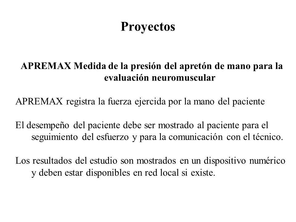 Proyectos APREMAX Medida de la presión del apretón de mano para la evaluación neuromuscular.