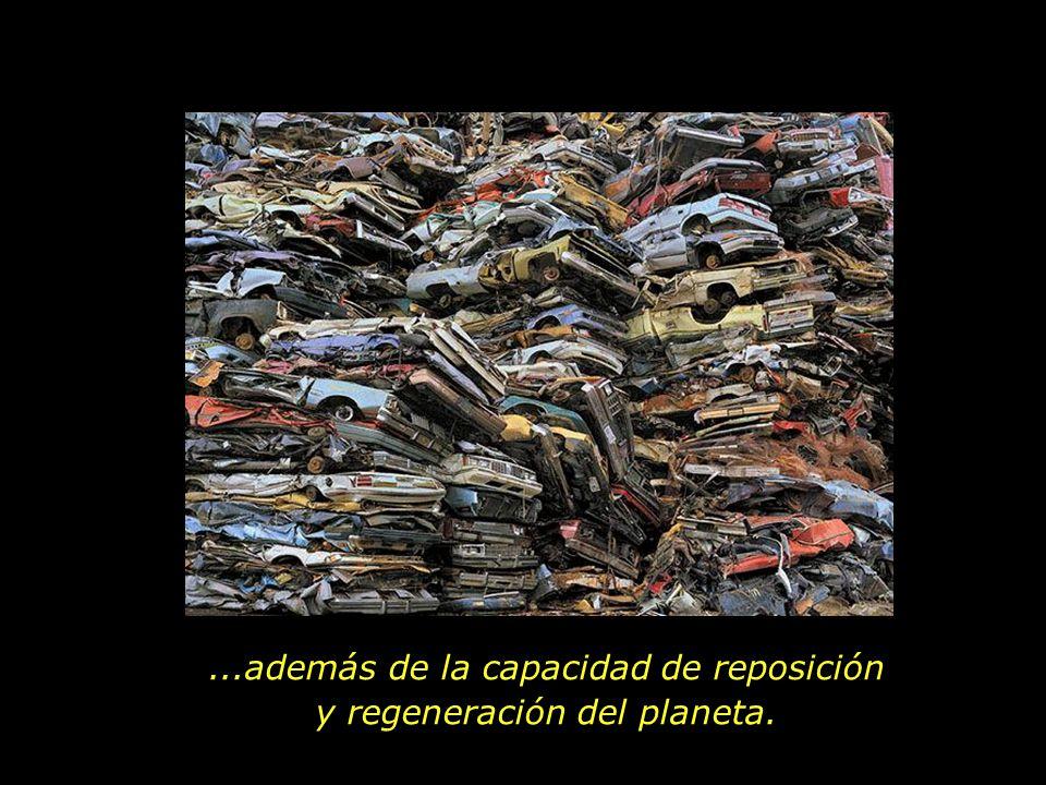 ...además de la capacidad de reposición y regeneración del planeta.
